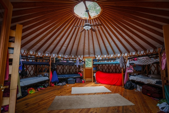 Camp Jorn yurt
